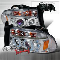 Ccfl Halo Spec-D Tuning 3LHP-CHG05-KS Chrome Projector Headlight
